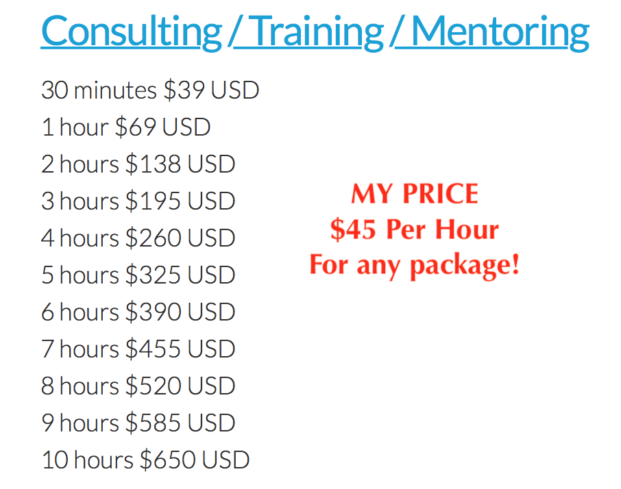 Consulting Fee Comparison